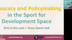Advocacy and Policymaking in the Sport for Development Space