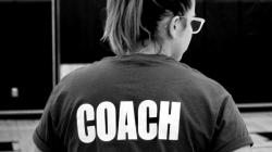 A female coach