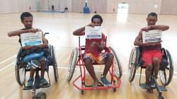 Para badminton players from PNG share #EachforEqual messages on IWD2020 (Badminton PNG)