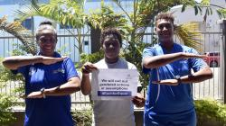 Staff from the PSP-supported Just Play program in Fiji celebrate IWD2020 1 (Just Play Fiji)