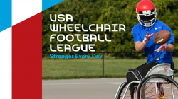 Image of a wheelchair football player