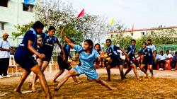 Women play Kabbadi in Tamil Nadu