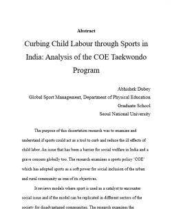 Phd thesis on child labour