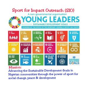 An edited picture of youth envoy made 17 global goals carries SIO mission statement