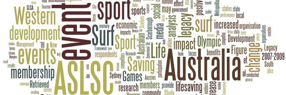 Word cloud of my thesis: Legacy by osmosis : investigation of sport development legacies resulting from the conduct of a major sport event. Full thesis available at https://danyahodgetts.com/2011/08/19/legacy-by-osmosis-investigation-of-sport-development-