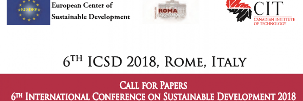 ICSD 2018 6th International Conference On Sustainable Development